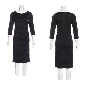Lela Rose black midi dress.
